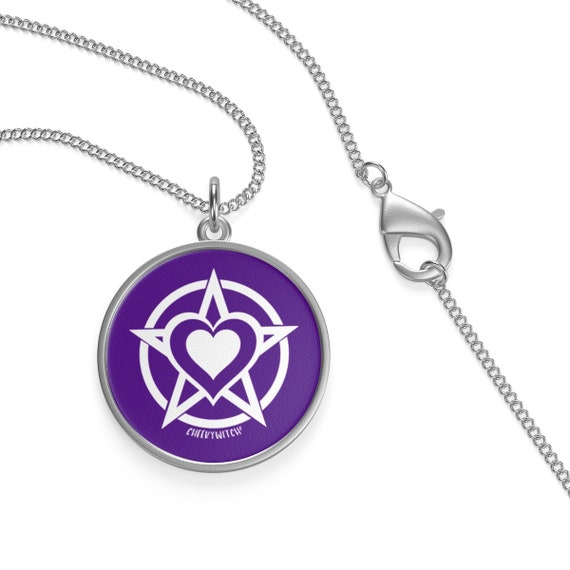 Cheeky Witch White Pagan Heart Symbol Purple Background Etsy