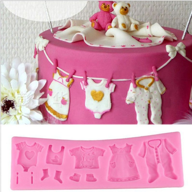 Baby Clothes Molds Cake Decorating Silicone Molds Cake image 0