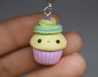 Pastel Cupcake Polymer Clay Charm
