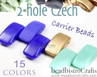9x17mm 2 Hole Peyote Carrier Beads Czech Glass or Stringing Beads U Pick