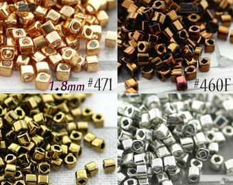 Color# T1.5C-329 1.5 mm Gold Lustered African Sunset Toho cube 10 gram bag