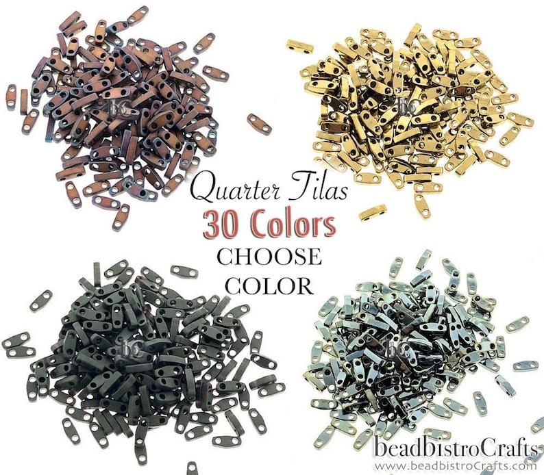 5g / 10g  MIYUKI  24 COLORS  New 1/4 Tila Beads  Choose image 0