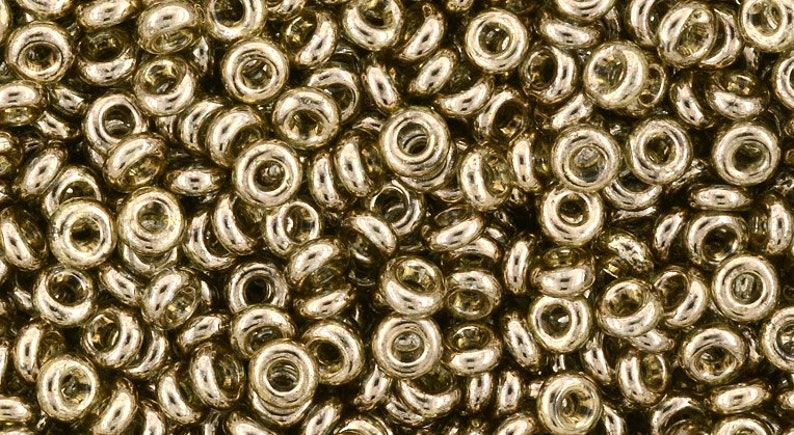 5g DEMI Rounds 6/0 Toho seed beads  GOLD-Lustered MONTANA image 0