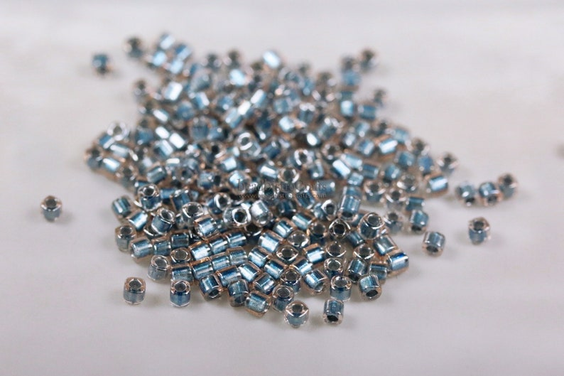 approx. 26g  1.5mm Cube  TOHO Seed Beads  Metallic BLUE image 0