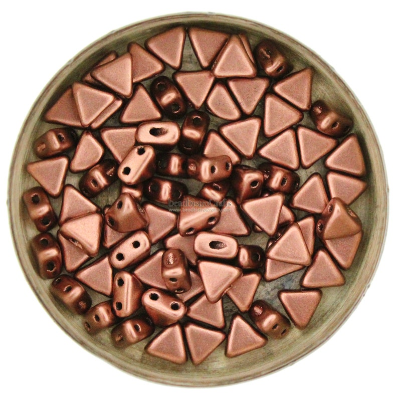 10g Czech KHEOPS Perles® par Puca® beads  2 hole beads  image 0