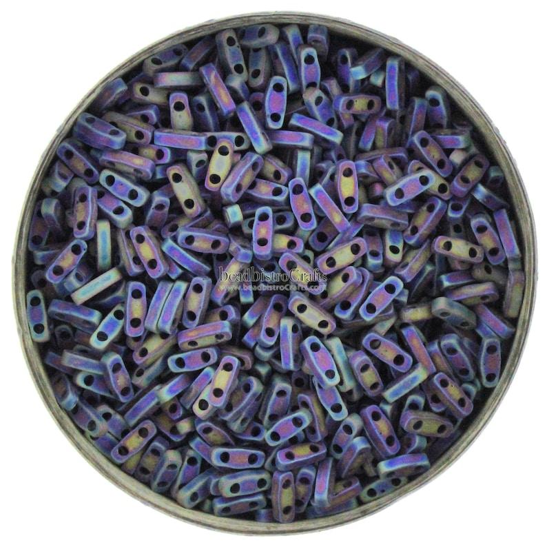 5g MIYUKI  1/4 Tila Beads  Matte BLACK AB   401FR  size image 0