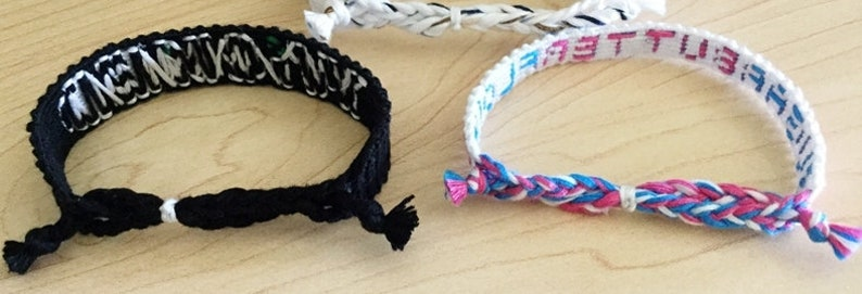 knotted Newsies sugar,butter,flour Wicked and Waitress themed broadway bracelets