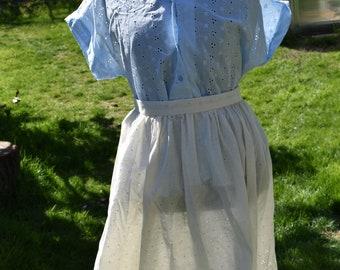 Cream eyelet skirt