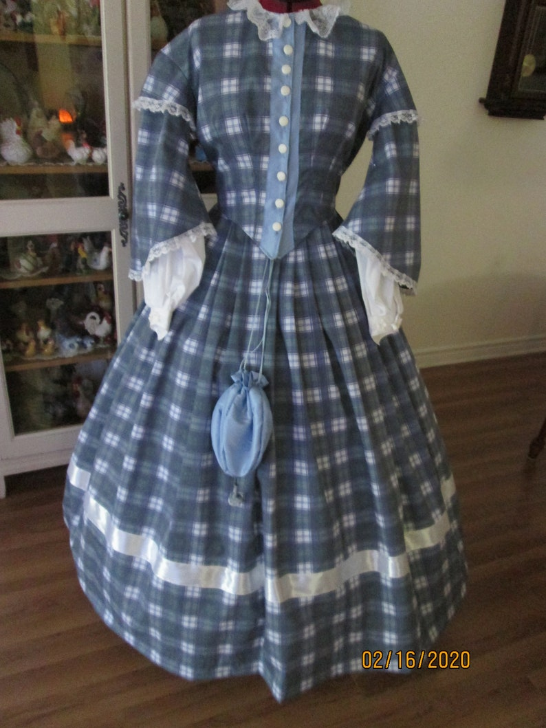 Victorian Dresses | Victorian Ballgowns | Victorian Clothing Civil War Womens Dress - 1860-1865 Womens Clothing (Size 12) #NB-120 $185.00 AT vintagedancer.com