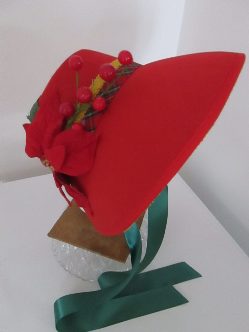 Women's Vintage Hats | Old Fashioned Hats | Retro Hats Dickens Christmas Carol Bonnet (Fits All) $51.30 AT vintagedancer.com