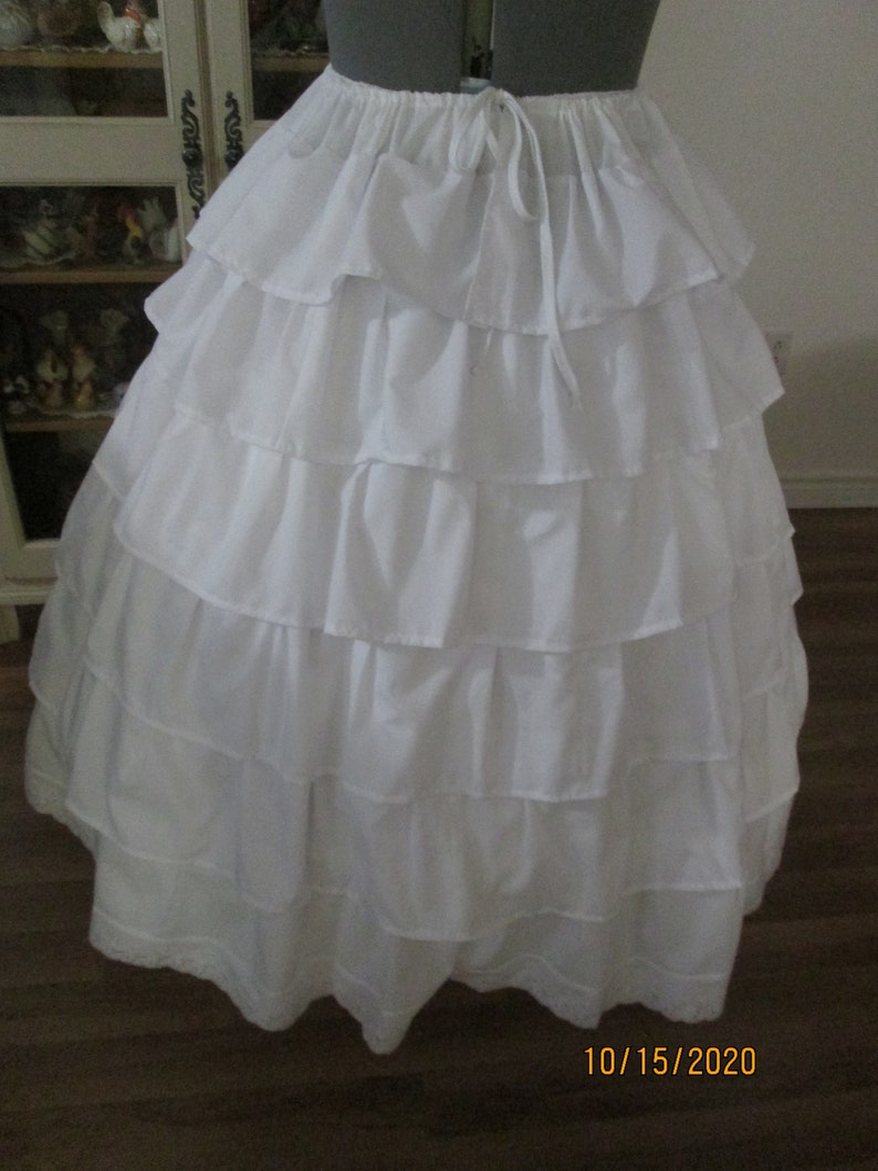 Victorian Lingerie – Underwear, Petticoat, Bloomers, Chemise Civil War Petticoat (Size Large) #NB-154 $85.00 AT vintagedancer.com