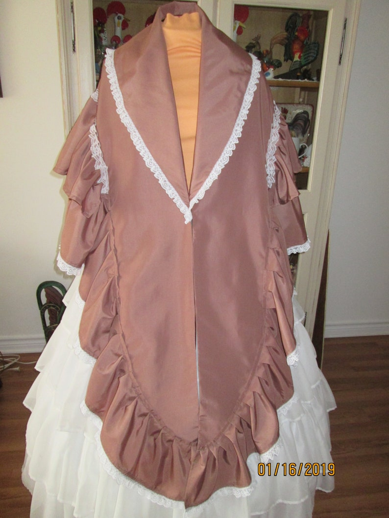 Victorian Clothing, Costumes & 1800s Fashion Civil War Womens Mantle (One Size) #NB-67 $75.00 AT vintagedancer.com
