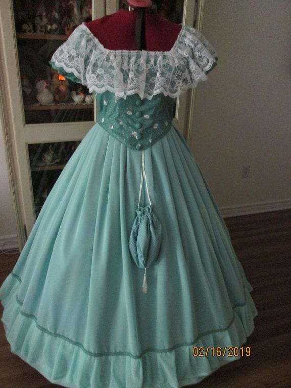 Civil War Ball Gown 1860-1865 Women\'s Dress Size 20 | Etsy