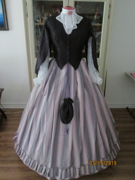Civil War Women S Dress 1860 1865 Women S Clothing Etsy