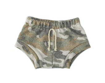 shorties in heathered camo