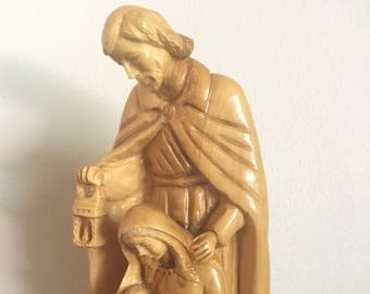 Statue  Christian  from Bethlehem olive wood