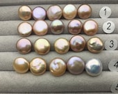 5pcs AAA 12-13mm Pink Purple Rainbow Coin Pearls,very good,high luster- petite Pearl- Pearl Jewelry,COIN12-3A-3-3