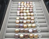 5pcs AAA 12-13mm Pink Purple Rainbow Coin Pearls,very good,high luster- petite Pearl- Pearl Jewelry,COIN12-3A-3-2