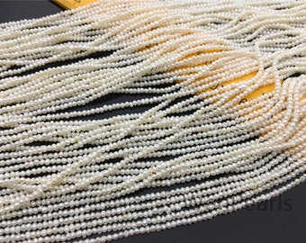 AA+ 1.6-1.8mmx1.7-2.2mm Actual Size white SHORT potato freshwater pearls,small size pearls bead wholesale,CR1-2A-5