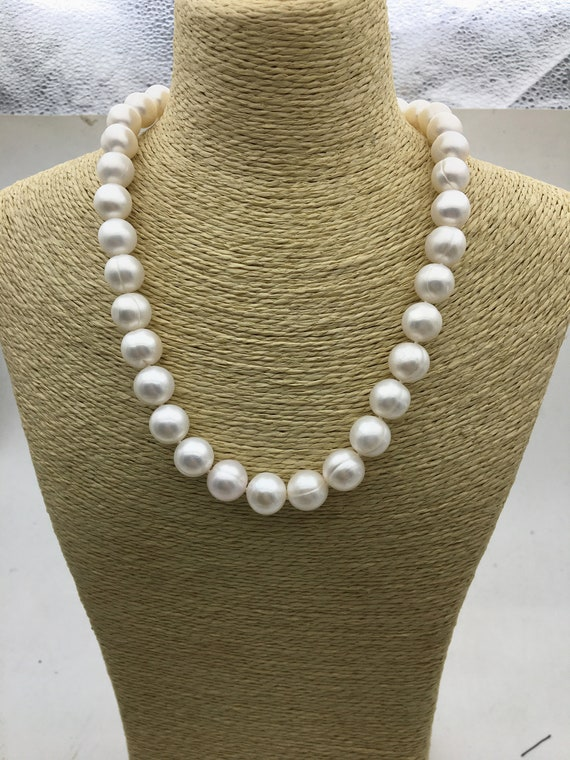 11-17mm Very large  Edison pearl necklace,mixed color strand,Round fresh water pearl string.PNDY03