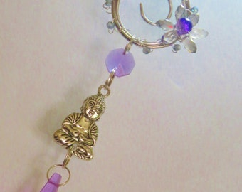 Handmade Buddha Charm Sun catcher//Ornament//Window Decoration//Spiritual Gift