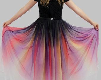 27f93abbfa9 Odile Ombre Dress - Dip Dye Dress - Elie Saab - Lily Collins - Modest Prom  Dress - Modest Formal - Modest Evening Dress - Bridesmaid Dresses