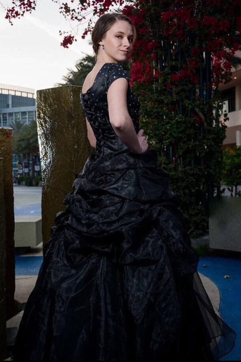 1c39edc8fd98 Odette Modest Prom Dress Modest Black Ballgown Prom Dress | Etsy