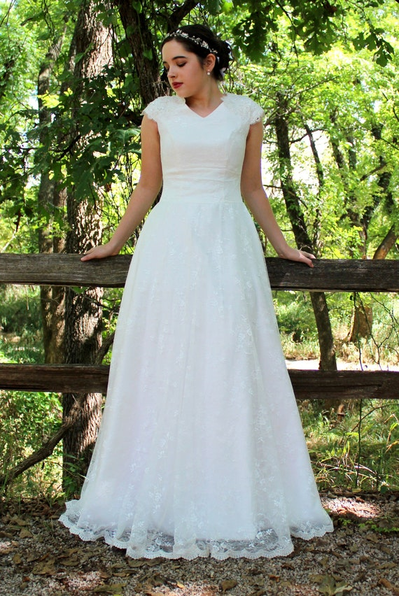 Modest Wedding Dress Custom Made Wedding Dress Wedding Etsy