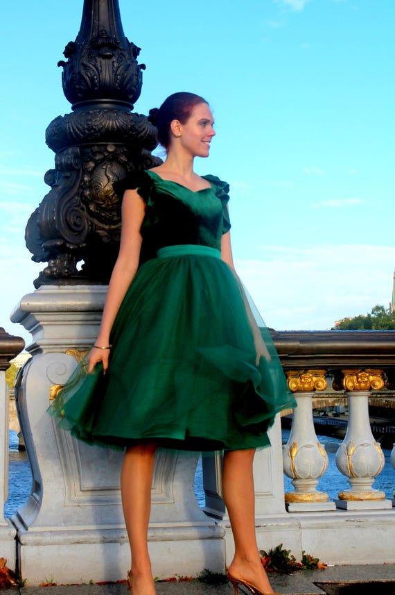 60d60353c9ab Noel Green Modest Prom Dress Modest Prom Dress Prom Dress | Etsy