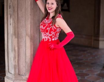 Scarlet Modest Prom Dress