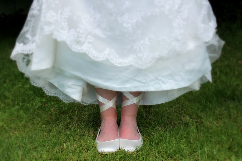 Lace Wedding Dress with Flats