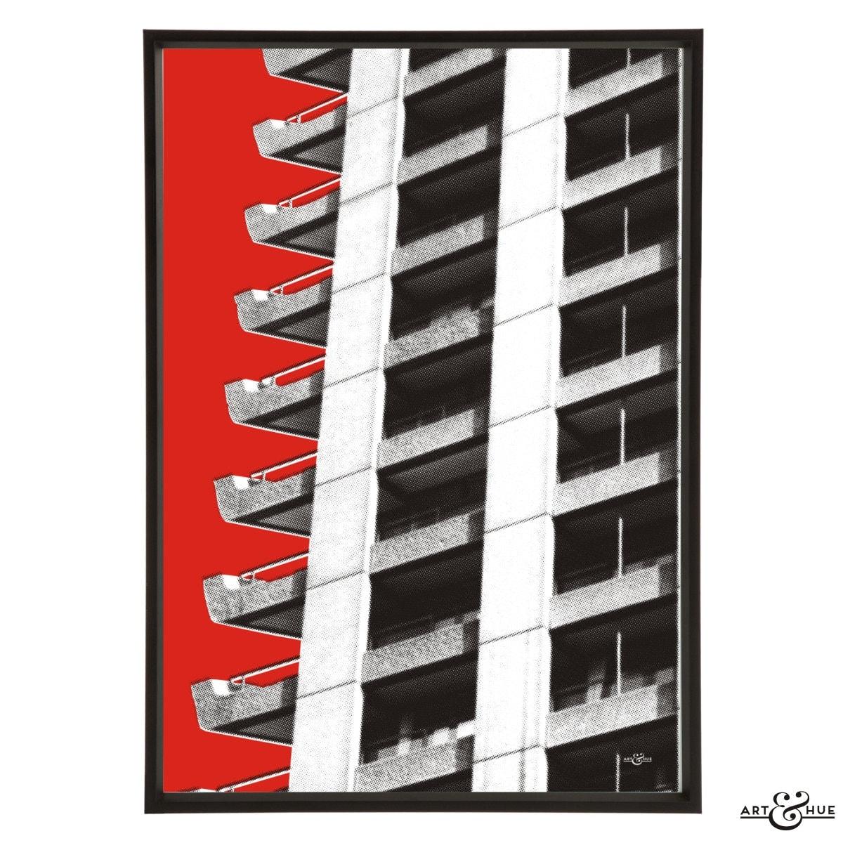 Brutalist Architektur Barbican Estate Pop Art Print Modernist | Etsy
