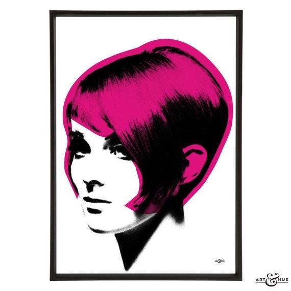 Incredible Mod Hair Graduated Bob Pop Art Print Of Iconic 1960S Etsy Schematic Wiring Diagrams Phreekkolirunnerswayorg