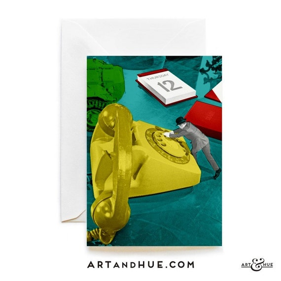 Desk phone greeting card the avengers greeting cards etsy image 0 m4hsunfo