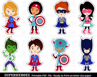 photo about Superhero Cutouts Printable known as Superhero lower out Etsy