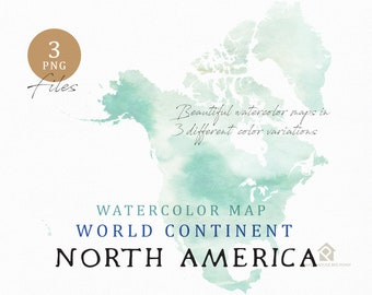 europe continent map watercolor map digital map map etsy