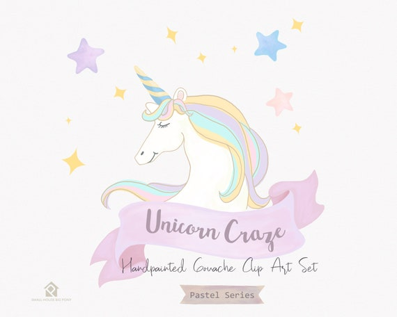 Pastel banners, pastel, banners, unicorn, star, colorful rainbows, gouache, stars - Unicorn Craze
