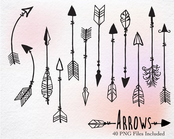 Digital Clipart- Hand Drawn clipart arrows, arrows clipart,clipart, Navaho clipart, arrows, Native American Style