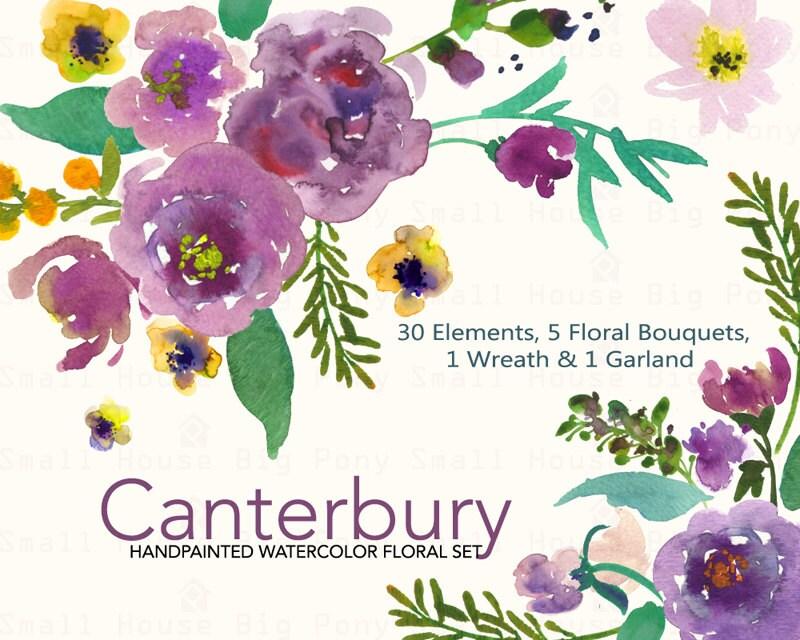 30 l ments floraux 5 bouquets 1 couronne et 1 guirlande. Black Bedroom Furniture Sets. Home Design Ideas