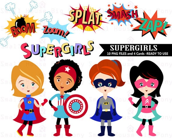 superhero clipart super girl clipart girl superheroes clip etsy rh etsy com cute girl superhero clipart girl superhero clip art free