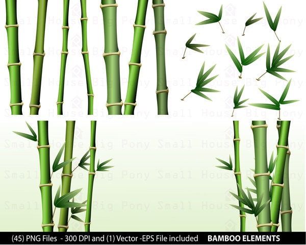 Bamboo Art Design : Bamboo clipart pack clip art short and tall