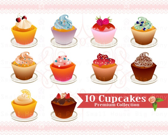 Cupcakes Clipart, cake Clip art, sweets Clipart, cupcake clip art, chocolate Clip Art