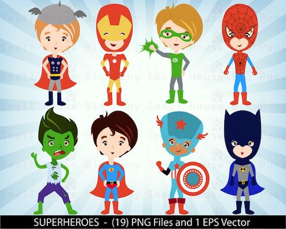 Superhero Digital Clipart, Superhero Clipart, Super Hero Clipart, Hero Clipart, Bat Clip Art, Superhero Clipart