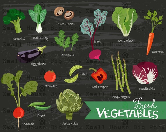 Fresh Vegetables, Kitchen digital elements,  kitchen poster, kitchen decor, art for kitchen, wall art, digital art, chalkboard art
