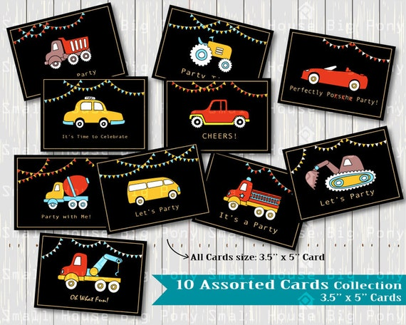 Cars and Trucks for Kids Clipart, cars Clip art, boy's card Clipart, birthday card clip art, assorted card Clip Art