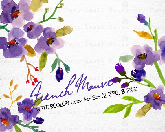 Digital Clipart- Watercolor Flower Clipart, Wedding floral Clip art, Floral Bouquet Clipart, wedding flowers clip art