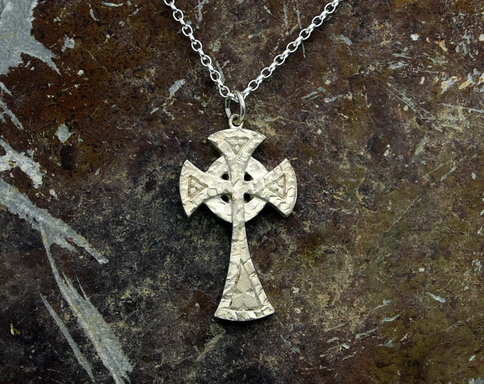Handmade Silver Celtic Cross: The Piran - Douglas Hughes Design