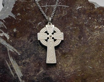 Silver Handmade Cornish Celtic Cross