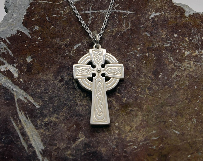 Silver Handmade Cornish Celtic Cross