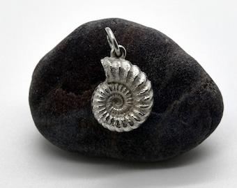 Handmade Silver Ammonite Pendant (Large), Douglas Hughes Design